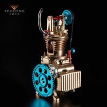 цена на Full Metal Assembled Single cylinder Gasoline Engine Model Building Kits for Researching Industry Learning Studying / Toy