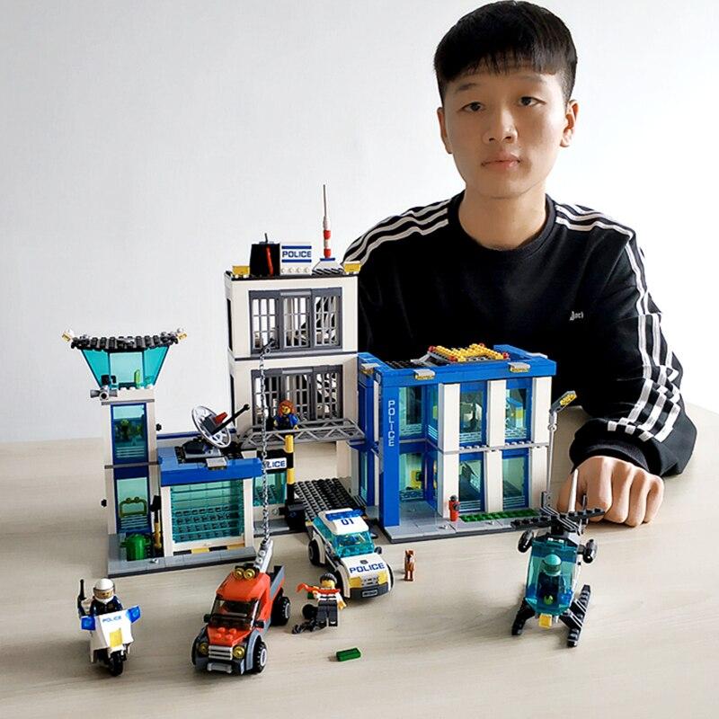 BELA 10424 Compatible avec Legoings ville poste de Police 60047 bloc de construction modèle policier jouets éducatifs pour les enfants - 3