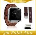 ZLIMSN Кожи Ремешки Для Fitbit Альта Ремешок Группы Blaze Кожаный Ремешок Fitbit Blaze Crazy Horse Картины Кожаный Ремешок