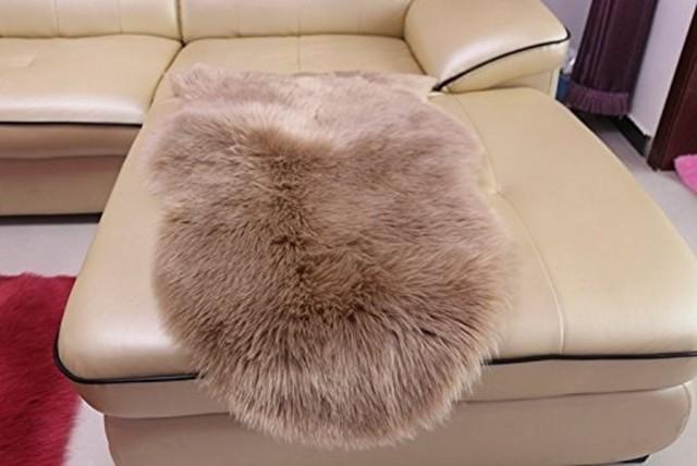 Artificial Wool Plain Sheepskin Rug Mat Carpet Pad Anti-Slip Chair Sofa Cover Faux Fur & Artificial Wool Plain Sheepskin Rug Mat Carpet Pad Anti Slip Chair ...