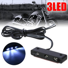 1PC 12V High Brightness F3 3LED Motorcycle Car License Plate Light White Decorative Lamp For ATV Off-road Scooter