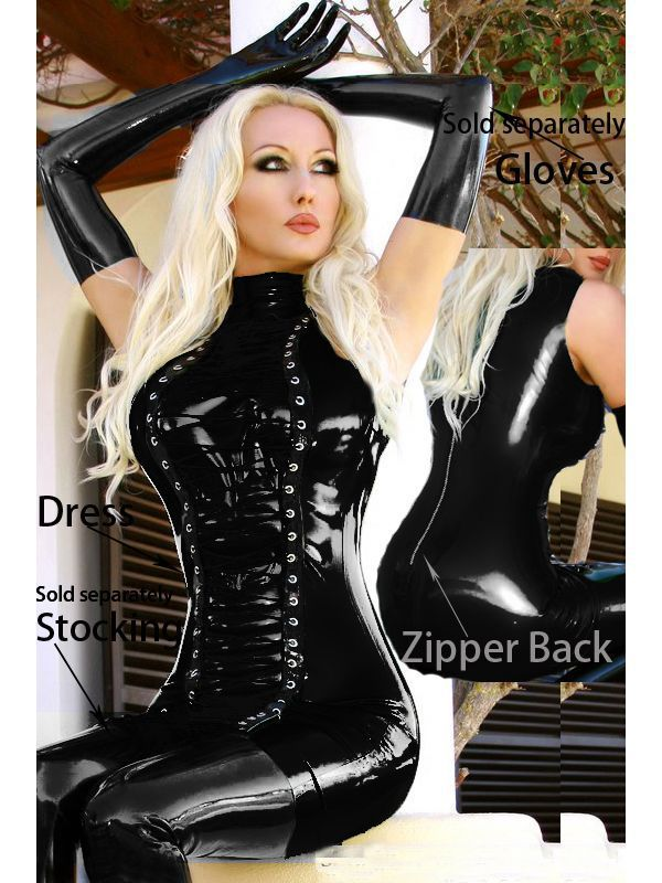 Fast Delivery New Women Sexy Faux Leather Gothic Punk -4764