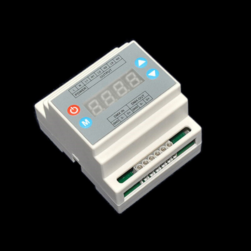 ФОТО Free shipping DMX302 DMX triac dimmer led brightness controller AC90-240V 50Hz/60Hz high voltage 3 channels 1A/channel