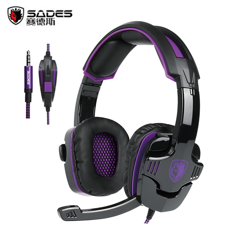 Sades SA930 Gaming Headphone 3.5mm Wired Computer Stereo Headset casque with Microhpone Mic for PC Mobile Phone Game Gamer