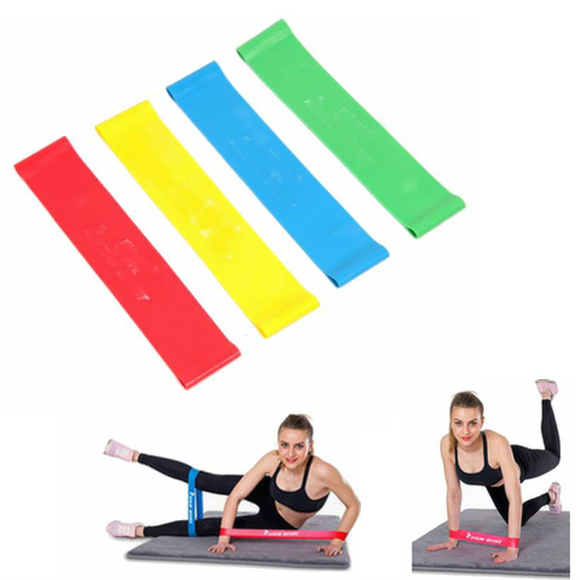 Pilates Yoga 4 Levels Rubber Resistance Bands Fitness LOOP
