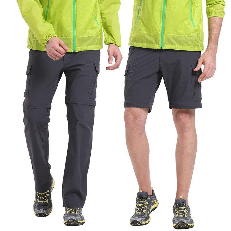 VECTOR pantalons à séchage rapide hommes été respirant Camping randonnée pantalon amovible Trekking chasse randonnée pantalons randonnée Shorts 50021