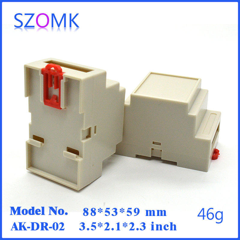 50 pcs hot selling szomk plastic enclosures for electronics 88 53 59mm plastic project box diy