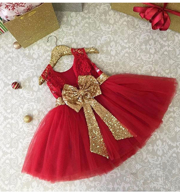 LZH Summer Baby Girls Dress Kids Sequins Bowknot Wedding Party Dresses Christmas Costume Girls Princess Dress For Girls Clothes 27