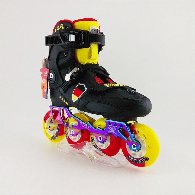 Prix pour Haute Qualité Freeline Skate Adulte Inline Chaussures De Patinage Débutant De Patin À Roulettes FreeskateShoes Slalom Patins