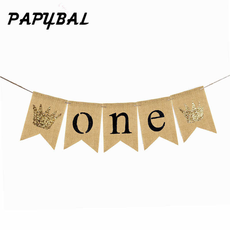 Happy 1st Bee Day Gold Glitter Banner One Cake Topper Golden Triangle Banner Bunting Banner Bee Decorations for Boy Girl First Birthday Party Decorations Supplies