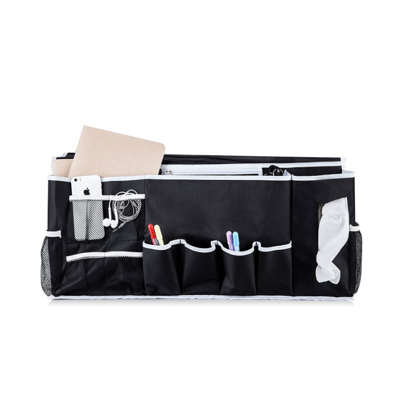 12 Pockets Storage Bag Bedside Hang Mutilfution Fabric Sofa Organizer For Magazine Telephone Accessory Tv Remote Holder