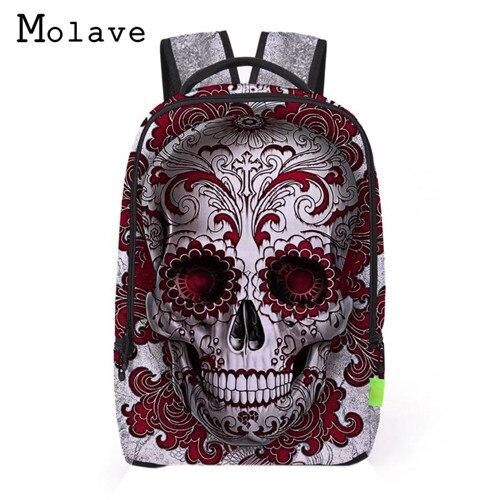 цены MOLAVE 2017 Women Men 3D Galaxy Travel Satchel Backpack Rucksack Shoulder Bookbag School Bag Mochila feminina Saco Sep12