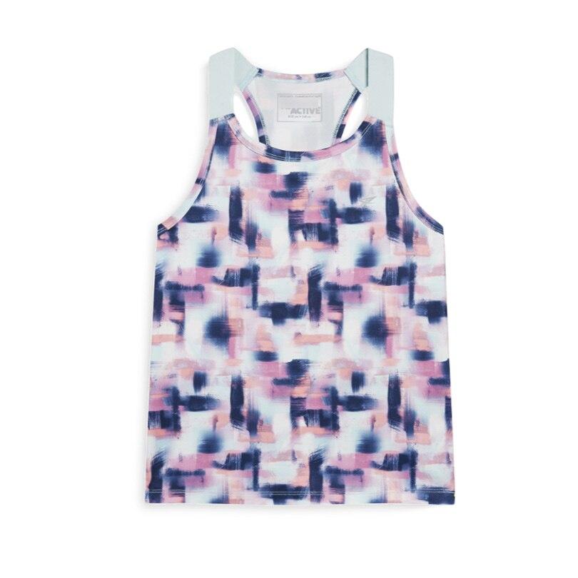 Girls Running Vest Girl Sports Yoga Sleeveless Sweater -1326