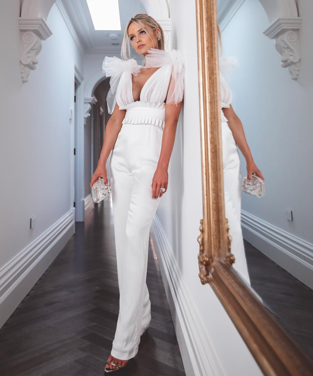 Deavogy 2019 New backless Women Sexy Bodycon mesh V neck Evening Party Bandage Jumpsuits Hot Sale-in Jumpsuits from Women's Clothing    1