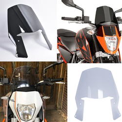 Dla KTM DUKE 690 2012 2013 2014 2015 2016 17 18 motocykl motocykl miejski szyby wycieraczki tarcza ekran z uchwytem Duke690 Szyby przednie i deflektory    -