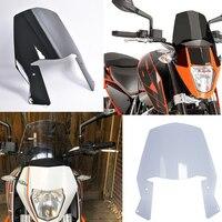 For KTM DUKE 690 2012 2013 2014 2015 2016 17 18 Motorcycle Street bike Windscreen Windshield Shield Screen With Bracket Duke690