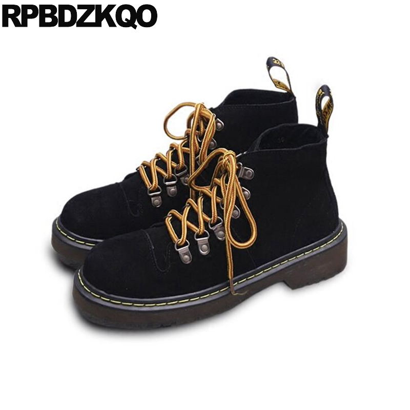 Shoes font b Women b font Booties Military Ankle Platform Combat Short Fall font b Black
