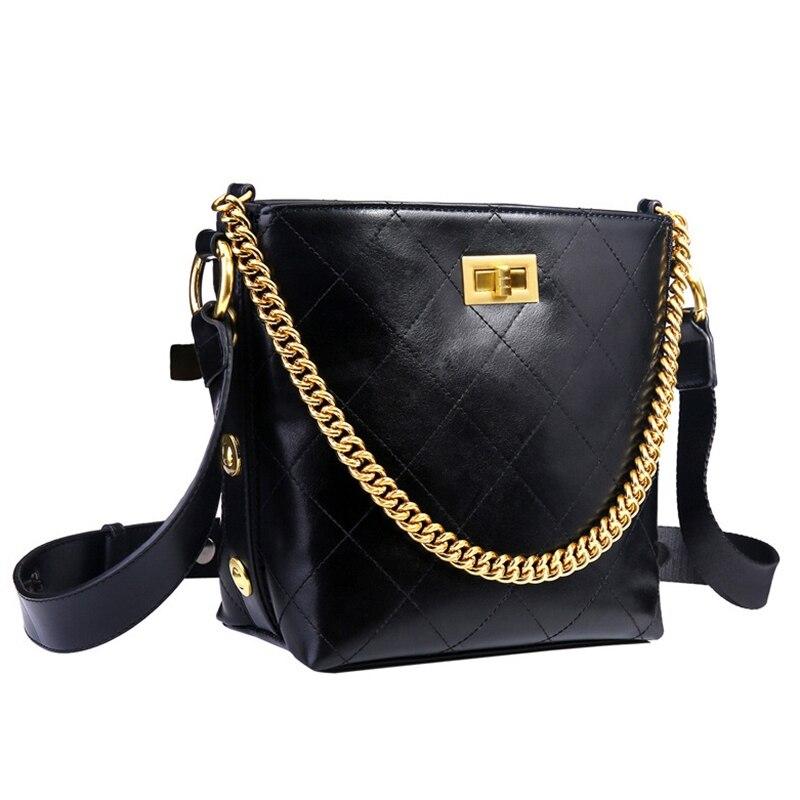 Sac à bandoulière femme grande chaîne sac à main Pu cuir dames sac à main sac à provisions
