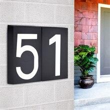 LED House Number Solar Power Digital Hotel Door Wall Solar Light Address Number Sign Lamp Custom Street Number Plaque office sign custom made 2 tile address plaque in grey