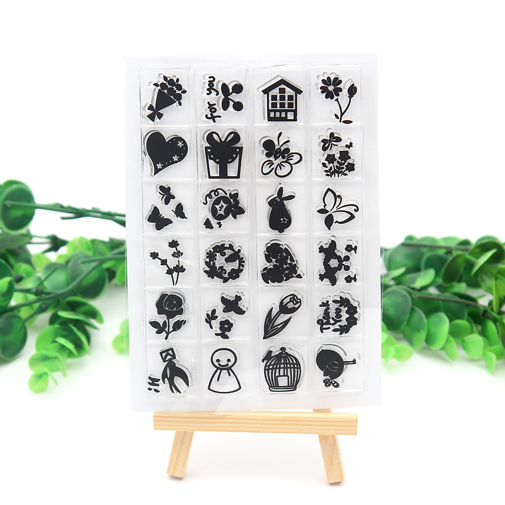 Cute Labeling Common accessories Transparent clear Stamp Templates ...