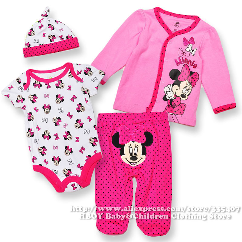 Brand Dis*** 4pcs/set Minnie Mouse Baby Girls clothing ...