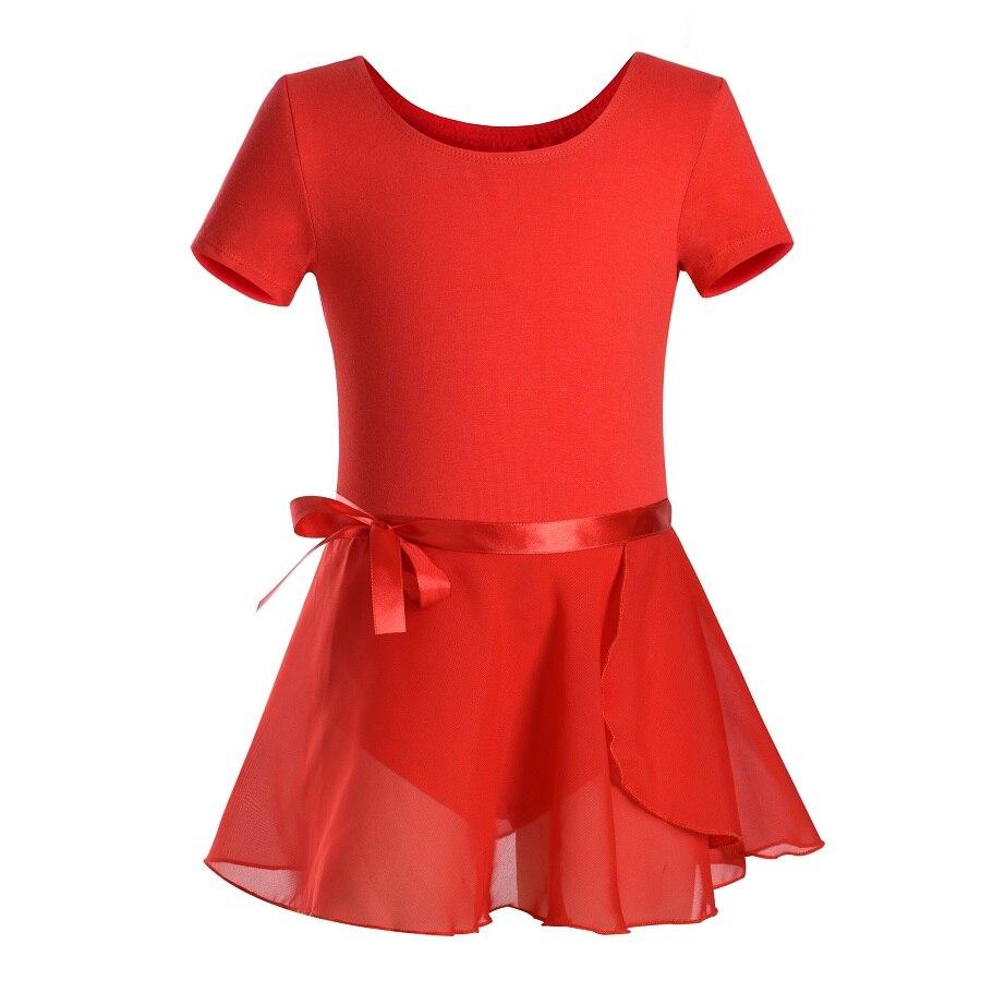 Summer Girls Short Sleeve Ballet Leotards Kids Dance Gymnastics Cotton Dancewear For Children Teen Unitard With