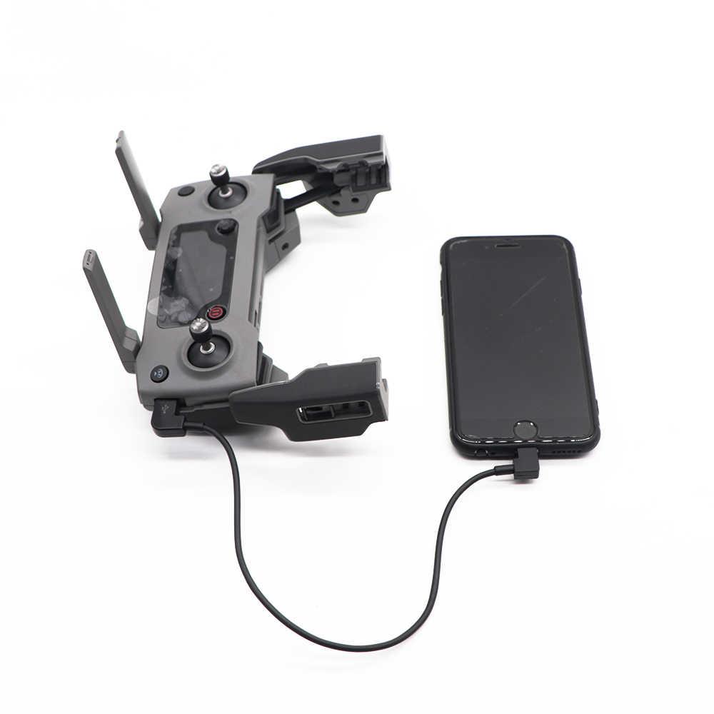 Mavic de DJI 2 Cable adaptador de Cable de datos para DJI Spark/MAVIC de Control de aire Micro USB Android/iluminación para iPhone /accesorio de cable tipo c