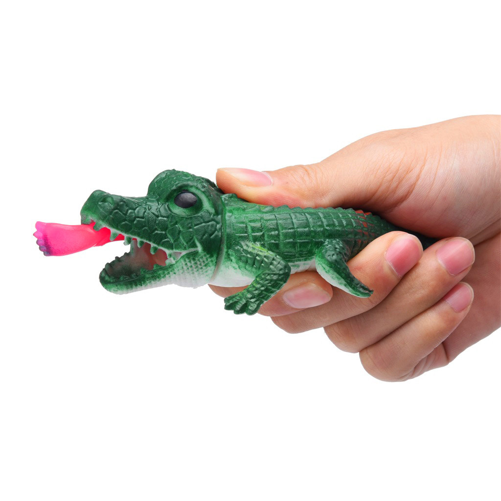 Crocodile Pops Out Leg if Squeeze 14cm Stress Relief Funny Toys 21