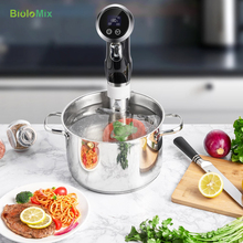 Sous Vide Precision Vacuum Slow Food Cooker 1500W Powerful Immersion Circulator – LCD Digital Timer Display Stainless Steel
