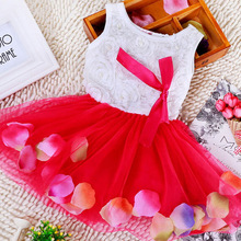 2016 Rushed Girl Dress Summer High-grade Wedding Dresses Children Embroidered Party Dresse Bridesmaid Kids Clothes 90-120cm