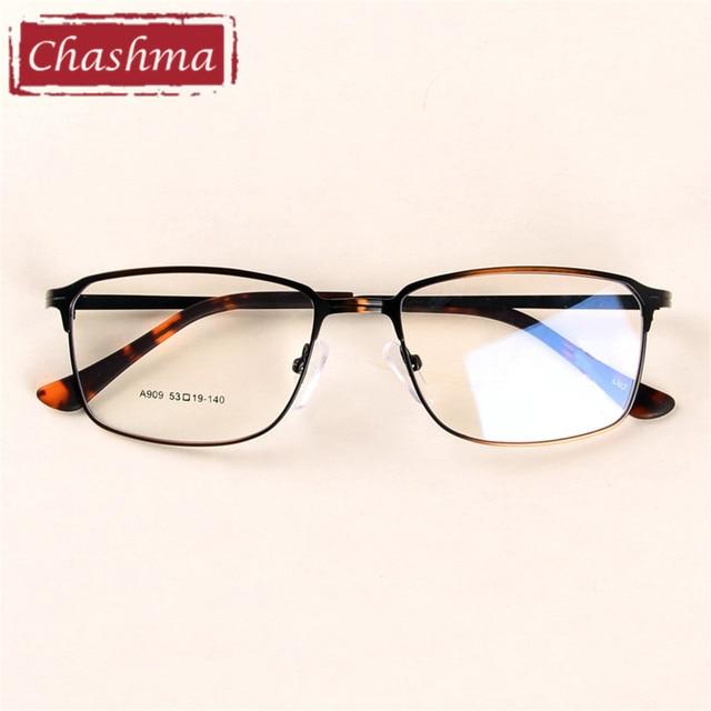 bffc0dcd0c5fe Chashma Marca Homem Óculos de Liga Quadro Completo Material de Homens Óculos  De Prescrição Óptica Óculos