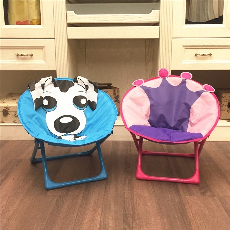 Children's Moon Chair Cartoon Stool Baby Dining Chair Folding Backrest Stool Portable Outdoor Beach Chair