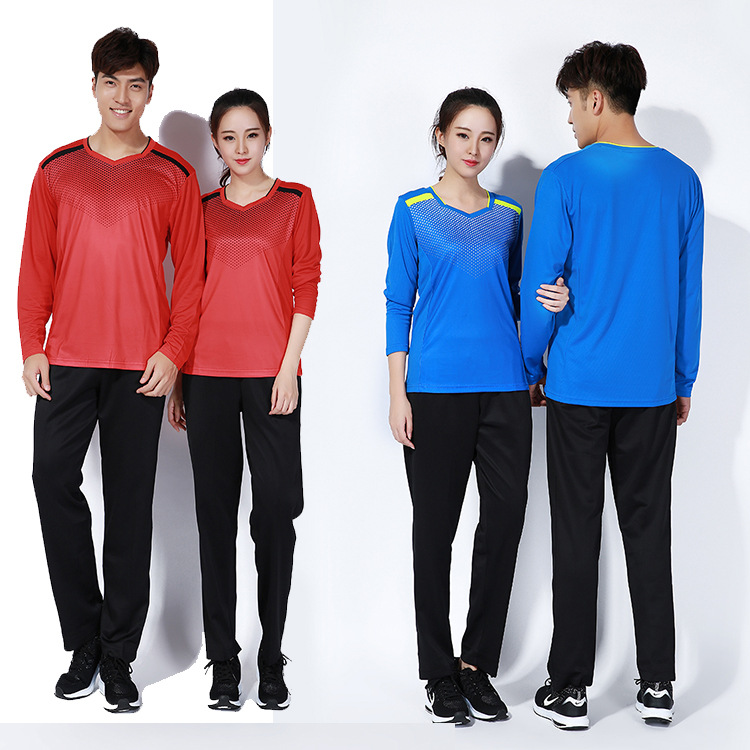spring/autumn winter men long sleeved badminton shirts clothes,fitness table tennis t shirt+pants team sports suit,tenis jerseys