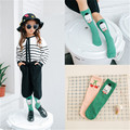 1 Pair of girl autumn sock kids children's knee high socks fox baby leg warmers cotton meias Korean style for children brand new
