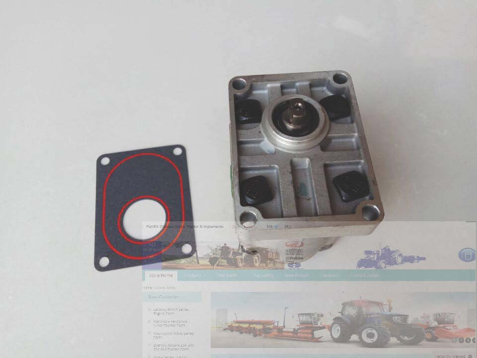 Shenniu SN254 tractor parts, the gear pump, model: 314, please check the shaft when make the order