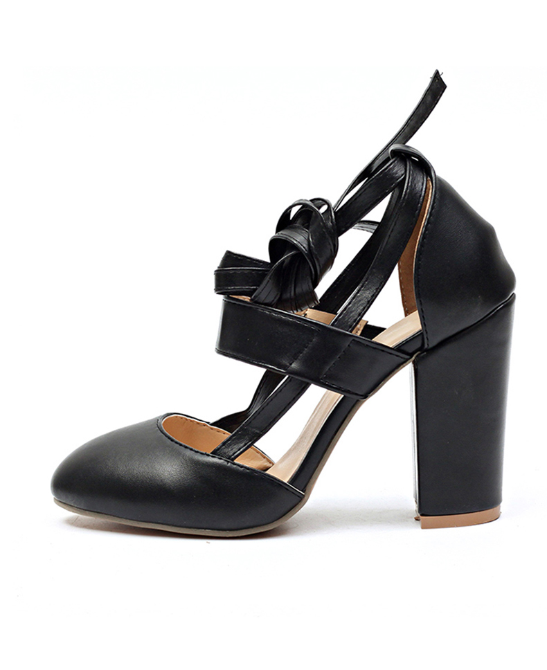 Women Pumps Comfortable Thick Heels Women Shoes Brand High Heels Ankle Strap Women Gladiator Heeled Sandals 8.5CM Wedding Shoes 20
