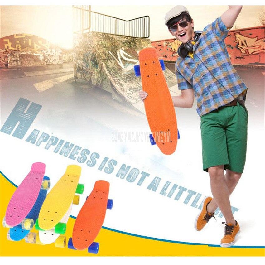 Four-wheel Mini Skate Board Retro Classic Cruiser Style Skateboard Outdoor Adult Or Children Skateboard Kick Scooter Skateboard