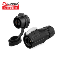 10 А M16 2-контактный IP67 водонепроницаемый разъем для промышленного электрического кругового штекера, Панельное крепление, гнездовой разъем, ...
