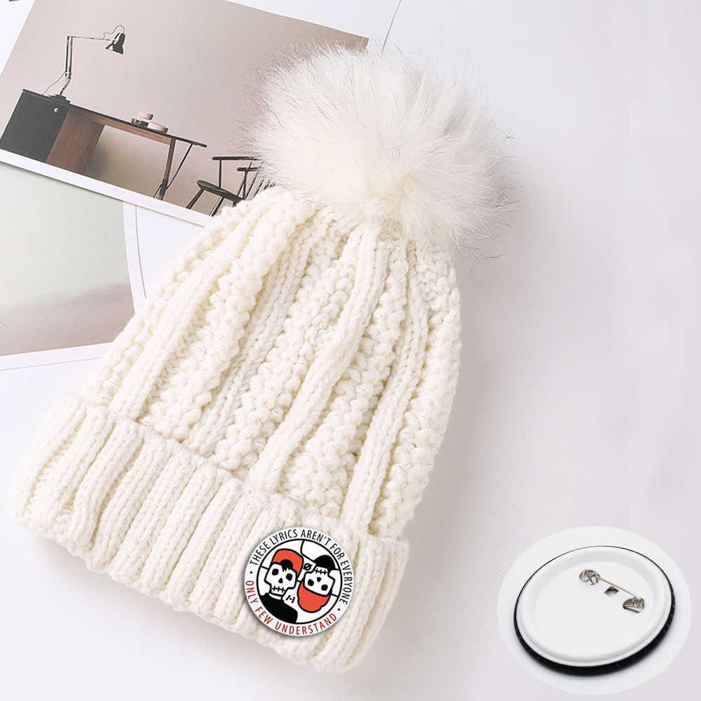 0b69e41edc794a ... Giancomics Hot Band Twenty One Piloot Cartoon Pattern Black Hat Cap  Warm Beanie Knitted Cotton Unisex ...