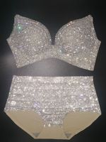 New bikini 2018 Luxury Crystal Swimwear Women Bathing Suit Rhinestone Diamond Swimsuit High Waist Push Up bling stones biquini