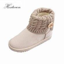 Women's Boots Winter Warm Snow Boots Mid Calf Boots  Women Ladies Girls Thick Plush Flock Women Shoes