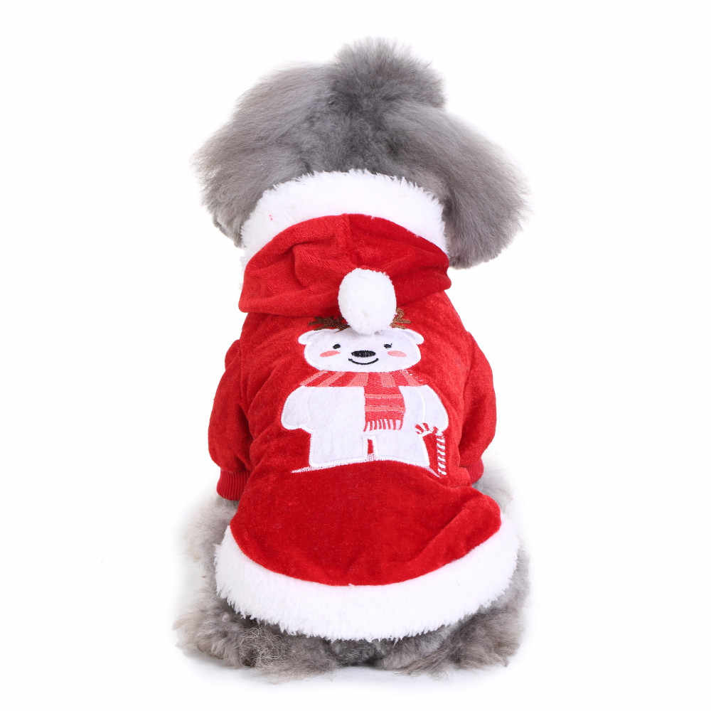 Gifts for the New Year Comfortable Pet Dog Christmas Bear Clothes Festival Dress new year decorations 2019 santa claus navidad