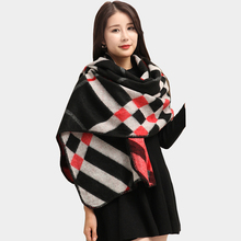 Za major Winter 2016 Tartan Scarf Cashmere Plaid Scarf cuadros New Designer Unisex Acrylic Basic Shawls Women's big size Scarves