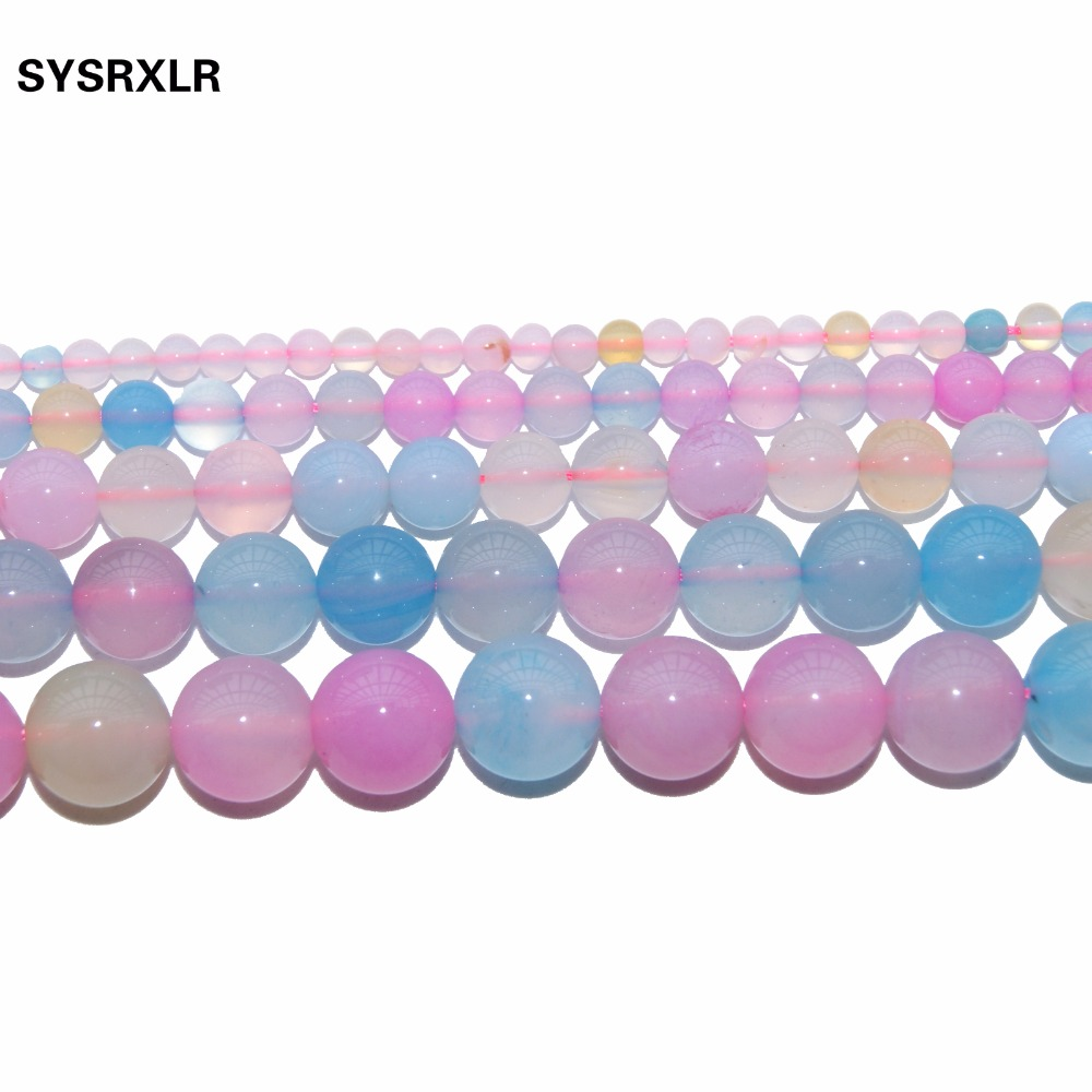 Free Shipping Colorful Morganite Agates Gem Beads Charm For Jewelry Making DIY Bracelet Necklace 4 6 8 10 12 MM Strand 15 39 39 in Beads from Jewelry amp Accessories