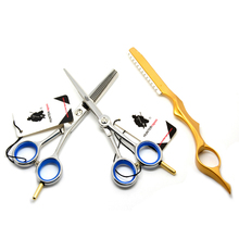 "5.0"" Hot Professional Hairdressing Scissors Hair Cutting Scissors kit Barber Shears Set Hairdresser Tool For hair Salons HT9152"