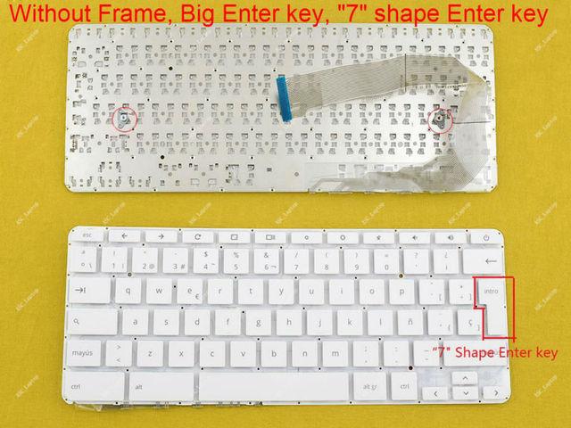 New Spanish Teclado Keyboard For HP Chromebook 14 x000 14 x001tu 14 ...