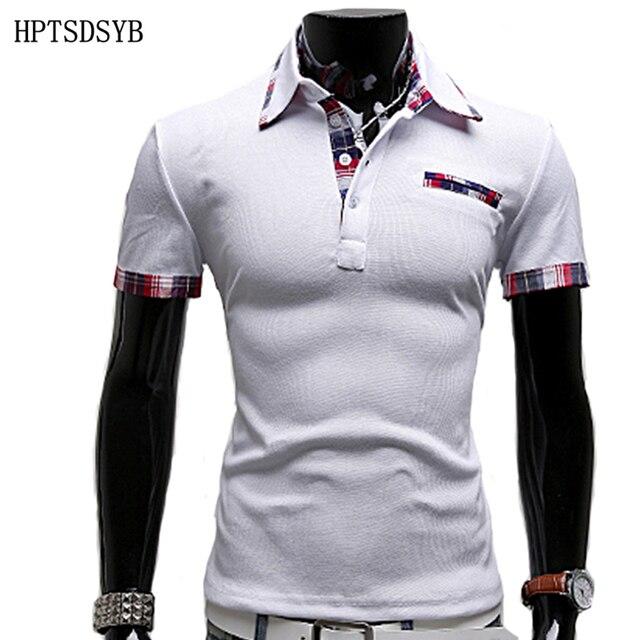 Mens Polo Shirt Brands 2016 Male Short Sleeve Fashion Casual Slim False Pocket Embroidery Polos Men Jerseys