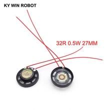 2pcs/lot New Ultra-thin Toy-car horn 32 ohms 0.25 watt 0.25W 32R speaker Diameter 27MM 2.7CM With Wire