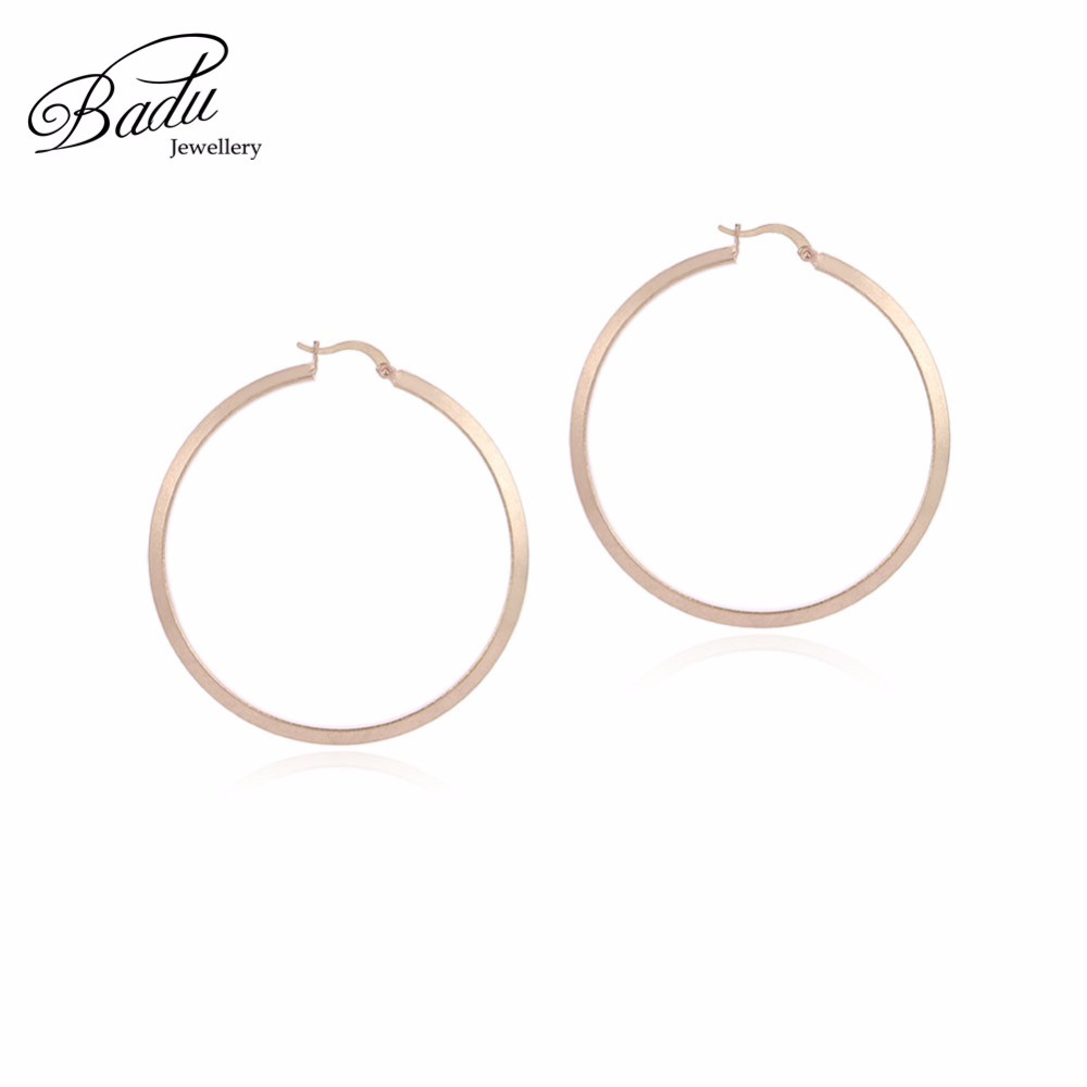 Badu Big Round Earring Women Punk Style Hoop Earrings Jewelry Exaggerated Geometric Wild Fashion Wholesale