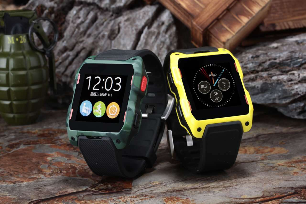 GPS smart watch remote monitoring heart rate monitoring elderly sleep outdoors table card